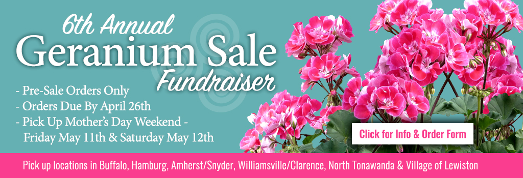 6th Annual Geranium Sale Fundraiser Banner